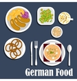 German cuisine soup salads and snacks vector image vector image