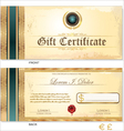 Gift Certificate Template vector image vector image