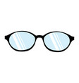 glasses natural icon symbol on white background vector image