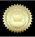 Gold star label Iowa vector image vector image
