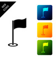 golf flag icon isolated on white background golf vector image