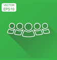 group of people icon business concept persons in vector image