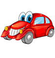 happy car cartoon vector image