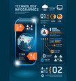Information technology infographics vector image vector image