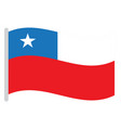isolated chilean flag vector image vector image