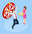 isometric win lottery prize fortune winners vector image