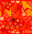 khokhloma seamless pattern in russian folk style vector image vector image
