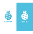 lab bottle logo combination bulb and vector image