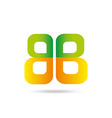 Letter B logo symbol vector image vector image