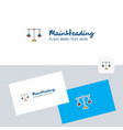 libra logotype with business card template vector image vector image