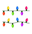 light bulb garland string christmas design vector image