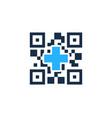 medical barcode logo icon design vector image