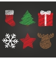 Merry Christmas and New Year symbols vector image