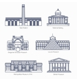 Monuments thin line icons Tate Modern vector image vector image
