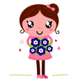 Mother holding a flowers for Mothers Day vector image