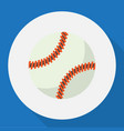 of exercise symbol on baseball vector image vector image