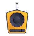 one speaker radio icon cartoon style vector image