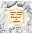 Organic food brochure for design vector image vector image