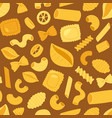 pasta cooking macaroni and spaghetti vector image vector image