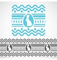 pattern with waves rabbit and egg vector image vector image