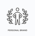 personal brand flat line icon outline vector image