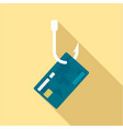 phishing credit card icon flat style vector image