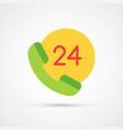 phone support 24 hour trendy symbol vector image
