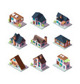 private modern houses city residential models of vector image vector image