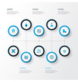 protection icons colored set with poison non vector image vector image