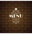 Restaurant cafe menu cover template vector image vector image