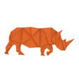 rhinoceros brown paper polygonal vector image