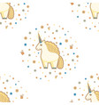 seamless pattern with cute unicorn stars flowers vector image