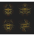 Set of calligraphic swirls vector image vector image