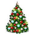 sketch with cute christmas tree with new year vector image vector image