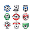 soccer league logo set collection of football vector image vector image