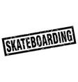 square grunge black skateboarding stamp vector image vector image