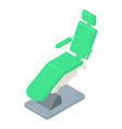 stomatology chair icon isometric style vector image vector image
