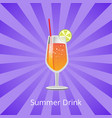 summer drink orange or grapefruit juice and vodka vector image vector image