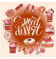 Sweet dessert vector image vector image
