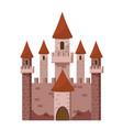 tale castle icon cartoon style vector image vector image