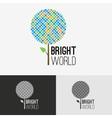 Tree bright logo concept vector image vector image