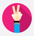 victory hand sign icon vector image