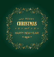 Vintage christmas golden frame merry christmas