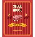 Vintage steak poster template vector image