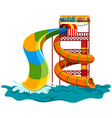 Water slide at the park vector image