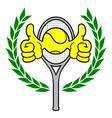 Winner tennis sign vector image