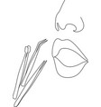 womens cosmetology line vector image