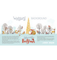 woodland christmas background vector image vector image