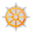 yellow buddhist symbol on a white background vector image vector image