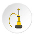 yellow hookah icon circle vector image vector image